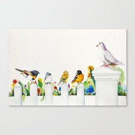 """""""Birds Chatter"""" Canvas Print"""