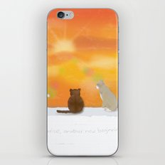 Cats and Sunrise iPhone & iPod Skin