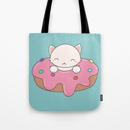 Kawaii Cute Cat Donut Tote Bag