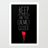 godfather Art Prints featuring GODFATHER QUOTE by Bianca Lopomo