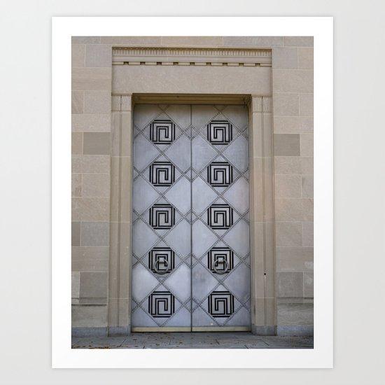 The Door To Nowhere Art Print