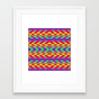 psychedelic Framed Art Prints featuring Psychedelic by Texture