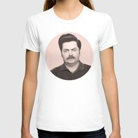 swanson T-shirts featuring Ron Swanson by Alexia Rose
