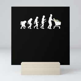 Supermarket Trolley Shopping Customers Evolution Mini Art Print