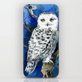 Snowy Owl, Northern Owl, White Owl, Owl art Winter woodland iPhone Skin