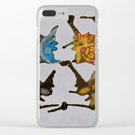 Dance of the sun and moon Clear iPhone Case