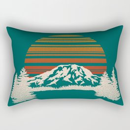 Mount Rainier National Park Rectangular Pillow