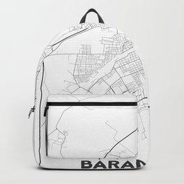Minimal City Maps - Map Of Baranovichi, Belarus. Backpack