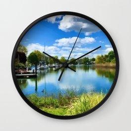 Heavenly Lagoon Wall Clock