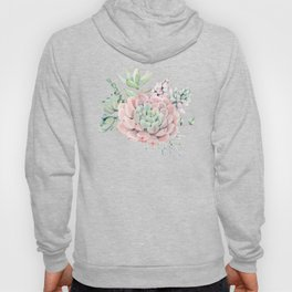 Perfect Pink Succulent Hoody