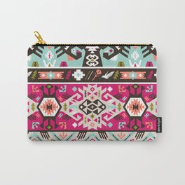 Fancy abstract geometric pattern in tribal style Carry-All Pouch
