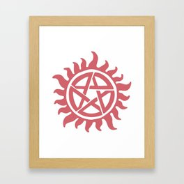 Anti possession seal Framed Art Print