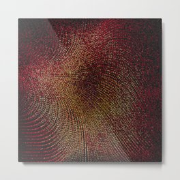 Warm Ruby Mist Metal Print