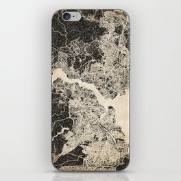 istanbul map ink lines iPhone Skin