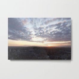 Salisbury Crags overlooking Edinburgh at sunset 4 Metal Print