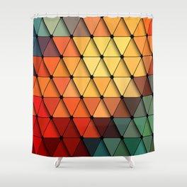 Colorful triangular grid Shower Curtain