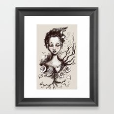 Scatter Heart Framed Art Print