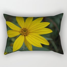 Yellow Wildflower Rectangular Pillow