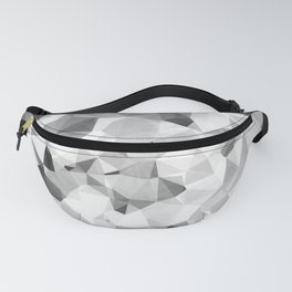 geometric polygon abstract pattern in black and white Fanny Pack