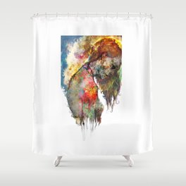 what's left of me Shower Curtain