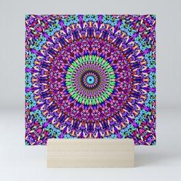 Pretty Gravel Mandala Mini Art Print
