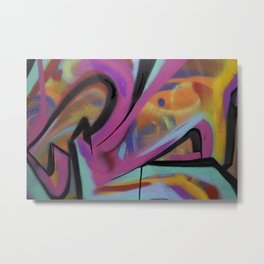 Abstract graffiti Metal Print