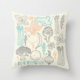I love vegetables! Throw Pillow