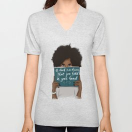 A Book Is A Dream That You Hold In Your Hand | African American Unisex V-Neck