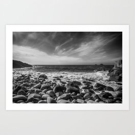 Cot Valley Porth Nanven 4 Black and White Art Print