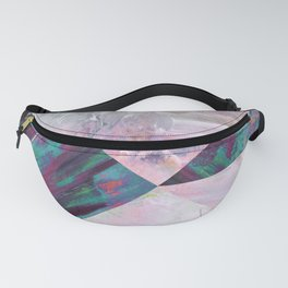 Painted Geometric Fanny Pack