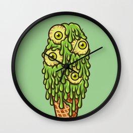 Mutant Ice Cream (slime) Wall Clock