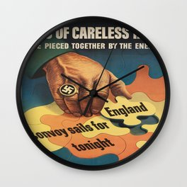 Vintage poster - Careless Talk Wall Clock