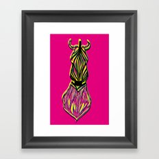 Seeing Zebra Framed Art Print