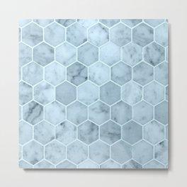 Bright Blue Tiles Metal Print