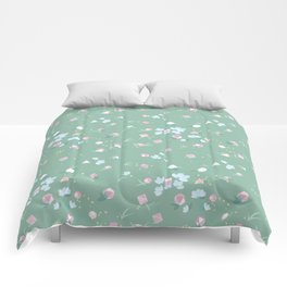Polyhedral Dice- Mossy Spring Comforters
