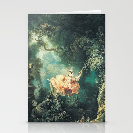 """Homage to Fragonard, """"The Swinging Stormtrooper"""". Stationery Cards"""