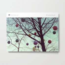 Pantone: Stockholm Tree Metal Print