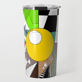 god eye abstract Travel Mug