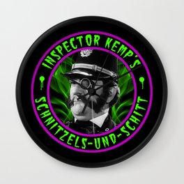 INSPECTOR KEMP - SCHNITZELS UND SCHITT Wall Clock