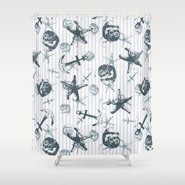 Nautical print Shower Curtain
