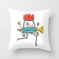 jubilation Throw Pillow