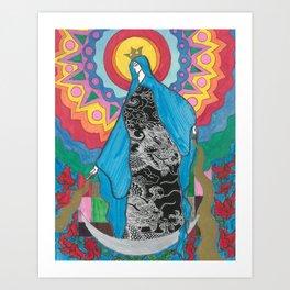 Luna en Abril Art Print