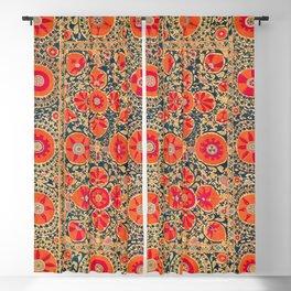 Kermina Suzani Uzbekistan Print Blackout Curtain