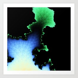 Julia's Joy - fractal abstract art Art Print