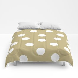 Polka Dots - Ecru and White Comforters