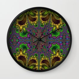 Fractal Oval Wall Clock