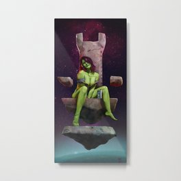 Gamora of Thrones Metal Print