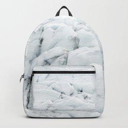 White winter glacier icelandic landscape photography Backpack