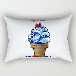 Life is better with ice cream Rectangular Pillow