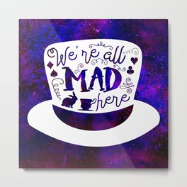 Alice In Wonderland - Mad Hatter Metal Print